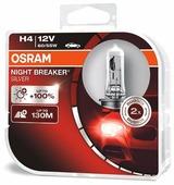 Лампа автомобильная галогенная Osram NIGHT BREAKER SILVER H4 64193NBS-HCB 12V 60/55W 2 шт.