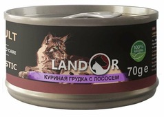 Корм для кошек Landor Куриная грудка с лососем