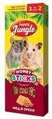 Лакомство для грызунов Happy Jungle Honey sticks Мед и орехи