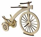 """Astra & Craft Деревянная заготовка для декорирования подставка под бутылку """"Старинный велосипед"""" L-852"""