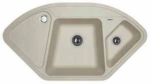 Врезная кухонная мойка FLORENTINA Капри FS 106х57.5см искусственный гранит
