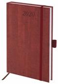 Ежедневник BRAUBERG Wood благородное дерево датированный на 2020 год, искусственная кожа, А5, 168 листов