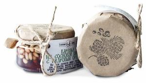 Варенье Таёжный Тайник из сосновых шишек с кедровым орехом, банка 120 г