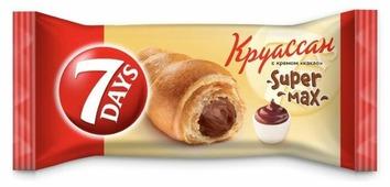7DAYS Круассан Super max с кремом какао