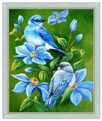 Алмазная живопись Набор алмазной вышивки Птицы на ветке (АЖ-1102) 40х49