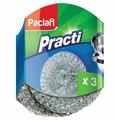 Мочалка для посуды Paclan Practi металлическая 3 шт