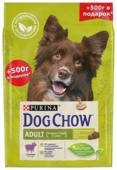 Корм для собак DOG CHOW для здоровья кожи и шерсти, ягненок (для средних пород)