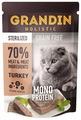 Корм для стерилизованных кошек Grandin беззерновой, с индейкой 85 г (паштет)
