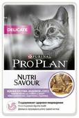 Корм для кошек Purina Pro Plan Nutrisavour Delicate беззерновой, при чувствительном пищеварении, с индейкой 85 г (кусочки в соусе)