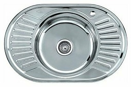 Врезная кухонная мойка Ledeme L67750A 77х50см нержавеющая сталь