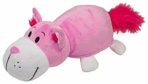 Мягкая игрушка 1 TOY Вывернушка Розовый кот-Мышь серая 15 см