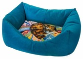 Лежак для кошек ZOOexpress Пухлик Сны Кошка №1 43х32х21 см