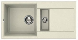 Врезная кухонная мойка elleci Easy 425 granitek 86х43.5см искусственный гранит