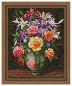 Алмазная живопись Набор алмазной вышивки Розы и лилии (АЖ-1744)