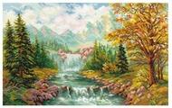 Алиса Набор для вышивания крестиком Горный водопад 41 х 26 см (3-09)