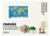 Reeves Раскраска. Постер для раскрашивания Карта мира