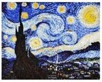 Созвездие Набор для вышивания бисером по мотивам картины Винсента Ван Гога Звездная ночь 30 х 24 см (Р-103)