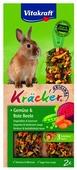 Лакомство для кроликов Vitakraft Крекеры Original свекла и овощи