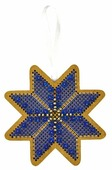 Созвездие Набор для вышивания крестом на основе Новогодняя игрушка Утренняя звезда 7,5 х 7,5 см (ИК-008)