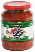 Баклажаны в томатном соусе Marinova GARDEN'S стеклянная банка 720 г