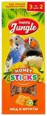 Лакомство для птиц Happy Jungle мед + фрукты