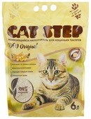 Комкующийся наполнитель Cat Step Tofu Original растительный 6 л