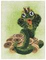 Канва для вышивания с рисунком Alisena Денежная змейка вышивка бисером В1062 12 х 16 см