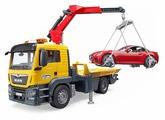 Набор машин Bruder эвакуатор MAN TGS с автомобилем (03-750) 1:16