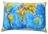 Подушка декоративная Мнушки Карта мира 35х26 см (Ап16сен01)