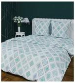 Постельное белье 1.5-спальное Текстильная лавка Ромбы 70х70 см, бязь
