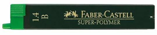 Faber-Castell Набор грифелей для механических карандашей Super-Polymer, B, 1,4 мм, 6 шт.
