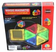 Магнитный конструктор Наша игрушка Magic Magnetic Standard JH6870 Rainbow Clear Solid