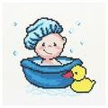 Hobby & Pro Наор для вышивания Веселое купание 22 х 22 см (ПК-174)