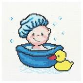 Hobby & Pro Набор для вышивания Веселое купание 22 х 22 см (ПК-174)