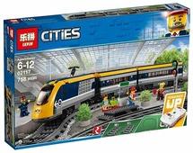 Электромеханический конструктор Lepin Cities 02117 Пассажирский поезд