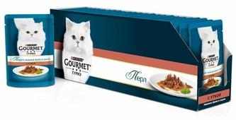 Корм для кошек Gourmet Перл с уткой 85 г (кусочки в соусе)