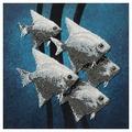 Созвездие Набор для вышивания бисером Рыбки 30х30 см