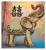 Созвездие Набор для вышивания бисером серия Фен-шуй, Двойная удача 21 х 21,5 см (Ф-118)