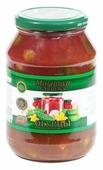 Огурцы в томатном соке Marinova GARDEN'S стеклянная банка 1000 г