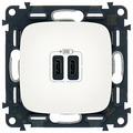 USB розетка Legrand Valena Allure 755345, белый