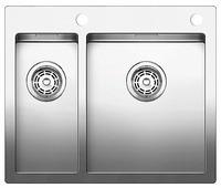 Интегрированная кухонная мойка Blanco Claron 340/180-IF/A 60.5х51см нержавеющая сталь