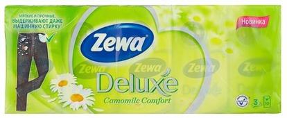Платочки Zewa Deluxe Ромашка бумажные носовые, 3 слоя 21 х 21 см