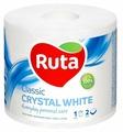 Туалетная бумага Ruta Classic Crystal White белая двухслойная