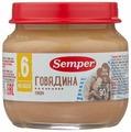 Пюре Semper говядина (с 6 месяцев) 90 г, 1 шт
