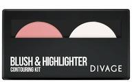 DIVAGE Палетка контурирующая для лица Blush & Highlighter