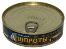 Атлас Моря Шпроты в масле, 160 г