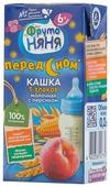 Каша ФрутоНяня молочная 5 злаков с персиком (с 6 месяцев) 200 мл