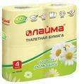 Туалетная бумага Лайма Аромат Ромашки желтая двухслойная
