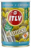 ITLV Оливки зеленые с анчоусом, жестяная банка 300 г