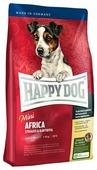 Корм для собак Happy Dog Mini Africa для здоровья кожи и шерсти, страус с картофелем (для мелких пород)